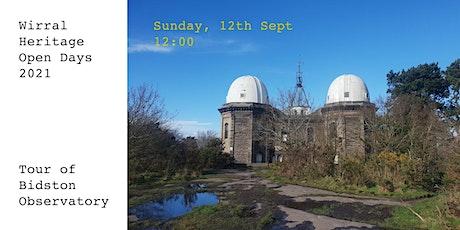 Bidston Observatory Wirral Heritage Open Days tickets