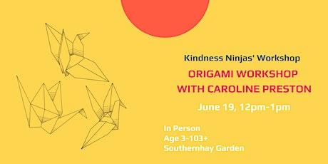 Origami  Workshop with Caroline Preston tickets