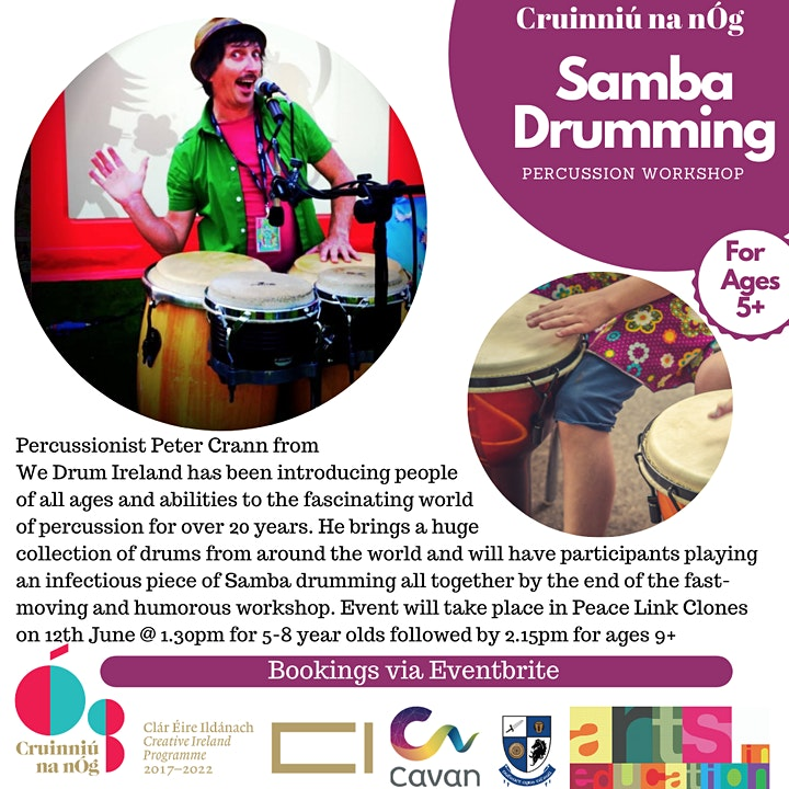 Samba Drumming and Percussion Workshop for Children 9-13 Years image
