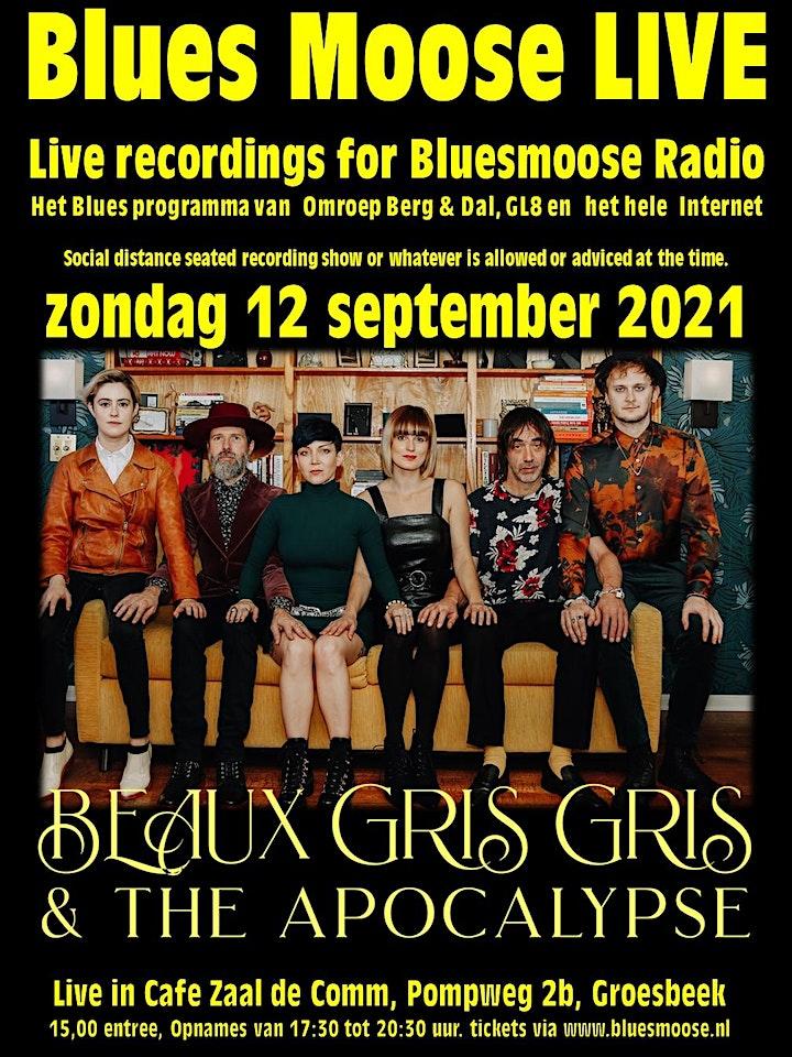 Afbeelding van Beaux Gris Gris & the Apocalypse live at Bluesmoose Radio