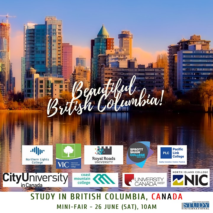 Study in CANADA: Destination Series 2021 Featuring BRITISH COLUMBIA image