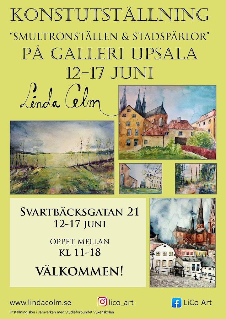 """Linda Colm - """"Smultronställen & Stadspärlor"""" på Galleri Upsala bild"""