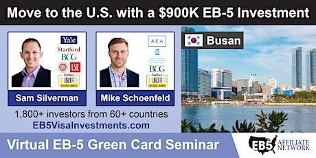 U.S. Green Card Virtual Seminar – Busan, South Korea tickets
