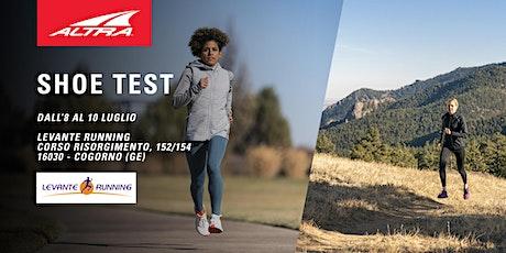 Altra Footwear Test  - Levante Running biglietti