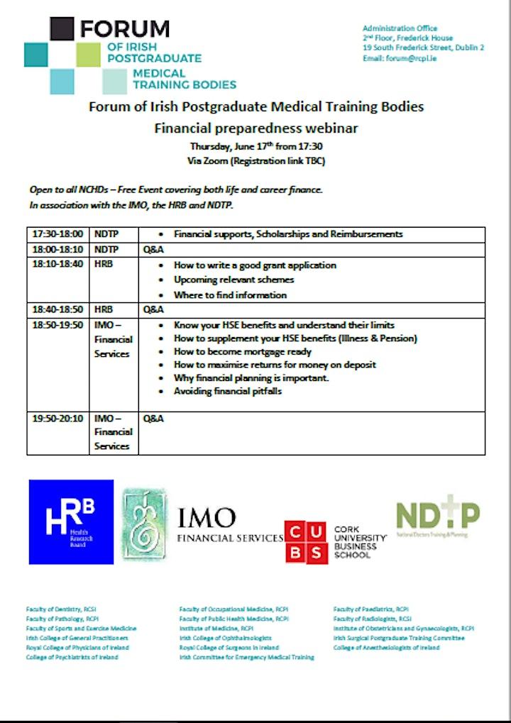 Financial preparedness webinar image