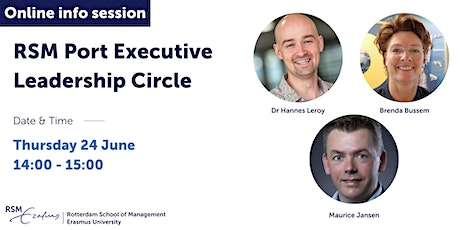 Online information session Port Executive Leadership Circle - 24 June 2021 tickets