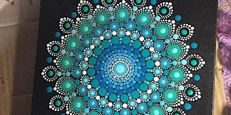 June 29th 6pm  Mandala Dot Painting- Soule' Studio-Beautiful Blues & Greens tickets