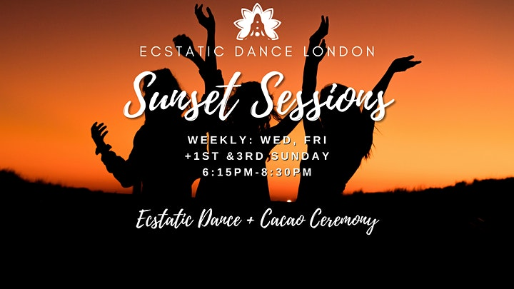 SUNSET SESSIONS with Ecstatic Dance London - Outdoor Silent Disco  & Cacao image
