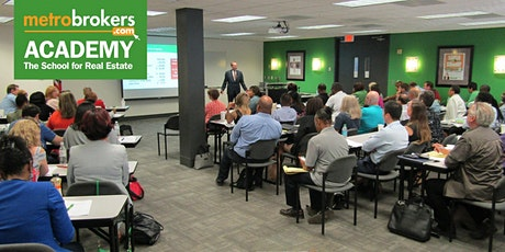 Real Estate Pre-License Course - LIVE/In-Person Accl Class (Curtis York) tickets
