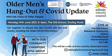 OLDER MENS HANDGOUT & COVID UPDATE tickets