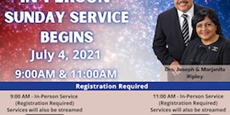 In Person Service Begins tickets