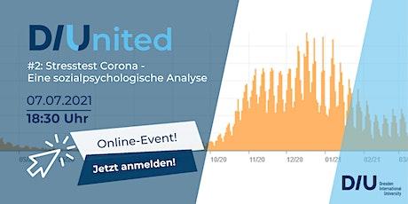 DIUnited #2: Stresstest Corona - Eine sozialpsychologische Analyse Tickets