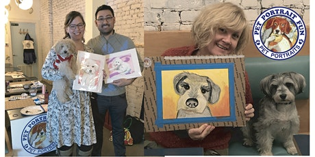 Paint and Sip Pet Portrait FUN- Paint Night NEW YORK Boris and Horton tickets