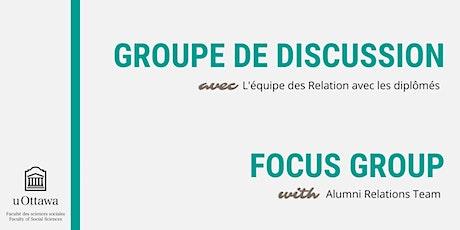 Groupe de discussion I Relations avec les diplômés billets