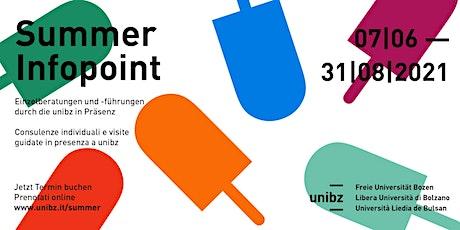 unibz | Summer Infopoint biglietti