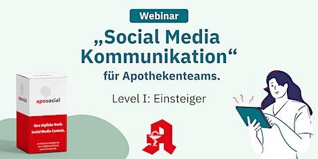 """Webinar """"Social Media Kommunikation""""  - Level I: Einsteiger biljetter"""