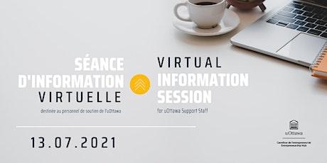 Séance d'information virtuelle  |  Virtual Information Session tickets