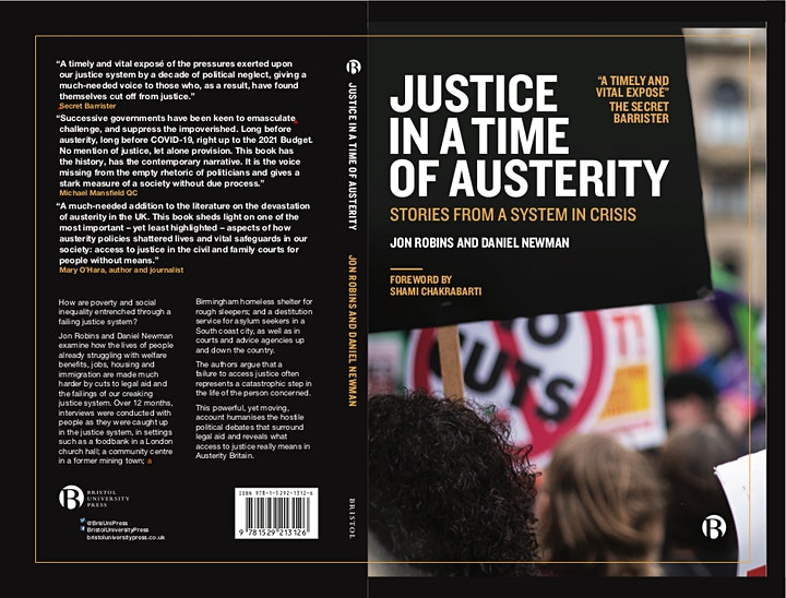 Book Launch - Justice in a Time of Austerity image