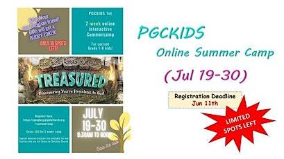 PGCKIDS 2-week Interactive Online Summer Camp 2021 tickets