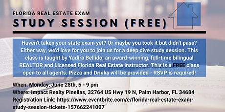 Florida Real Estate Exam Study Session tickets