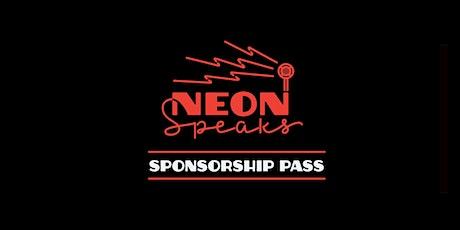 Sponsorships for Neon Speaks 2021 tickets