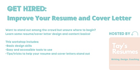 Get Hired: Improve Your Resume and Cover Letter tickets