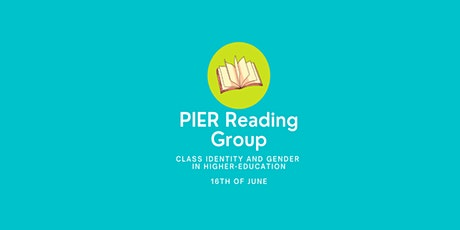 PIER Reading group - Class identity and gender in higher-education settings tickets