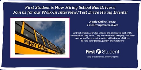Join First Student Rockton for Test Drive/Walk-In Interview Hiring Events! tickets