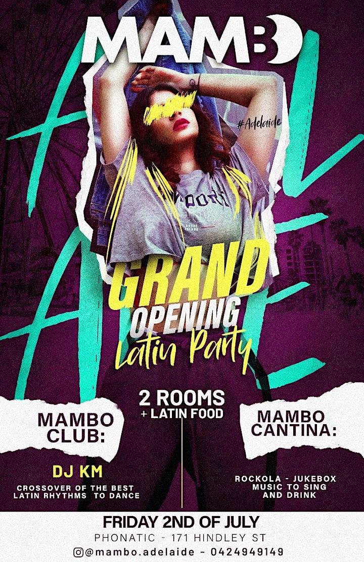 MAMBO - Grand Opening - Latin Night - 2 Rooms: Club & Cantina image