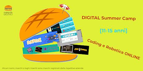 DIGITAL Summer Camp [11-15 anni] Coding e Robotica ONLINE 21/06/21-25/06/21 biglietti