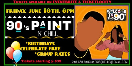 90s Paint n Chill Dallas tickets