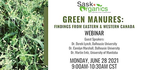 Green Manures: Findings from Eastern and Western Canada Webinar tickets