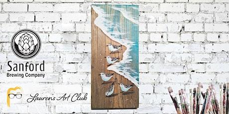 DIY Paint & Sip - Sanford Brewing Company - Beach on Wood tickets
