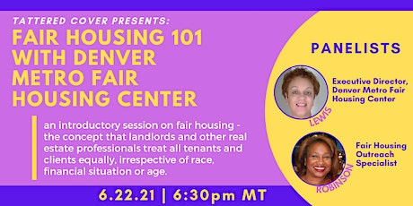 Tattered Cover Presents: Fair Housing 101 tickets