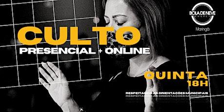 CULTO QUINTA (24/06) 19h30 ingressos