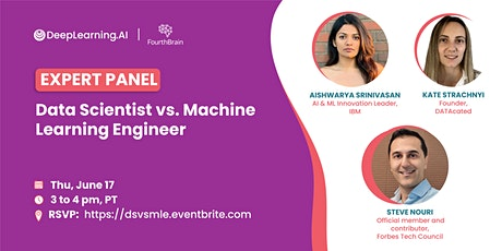 Data Scientist vs. Machine Learning Engineer tickets