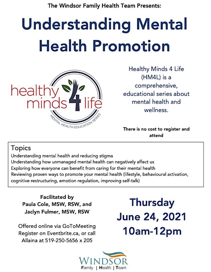 Healthy Minds 4 Life: Understanding Mental Health Promotion image