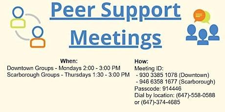 Peer Support Group Meetings tickets
