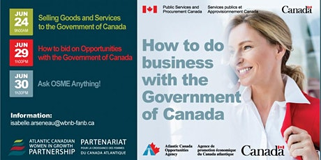 Learn how to do business with the Government of Canada tickets