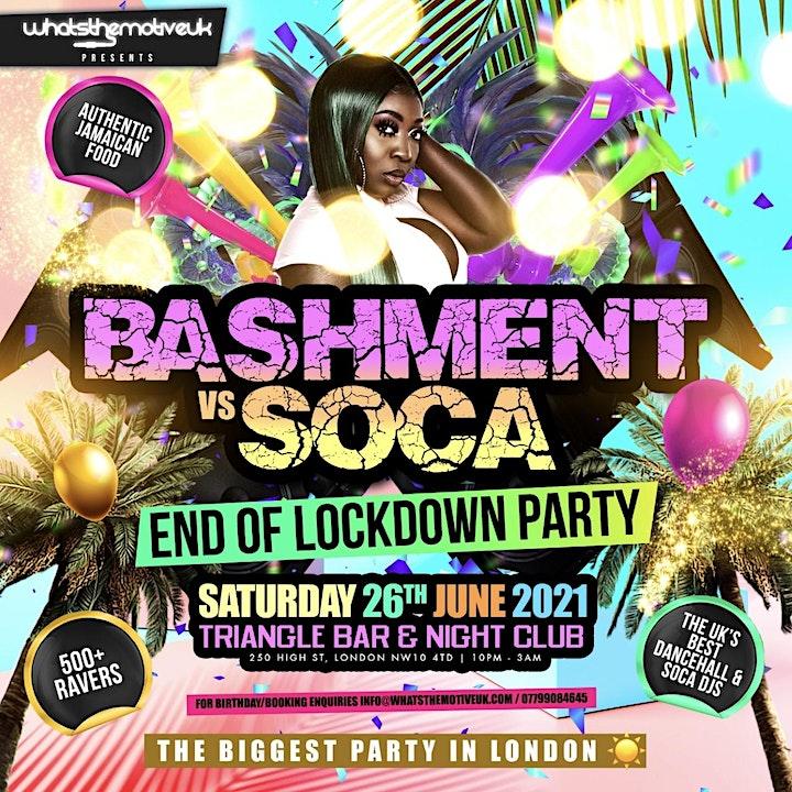 BASHMENT vs SOCA - No Restriction Party image