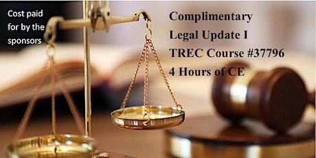 Legal Update 1 TREC Course 37796 tickets