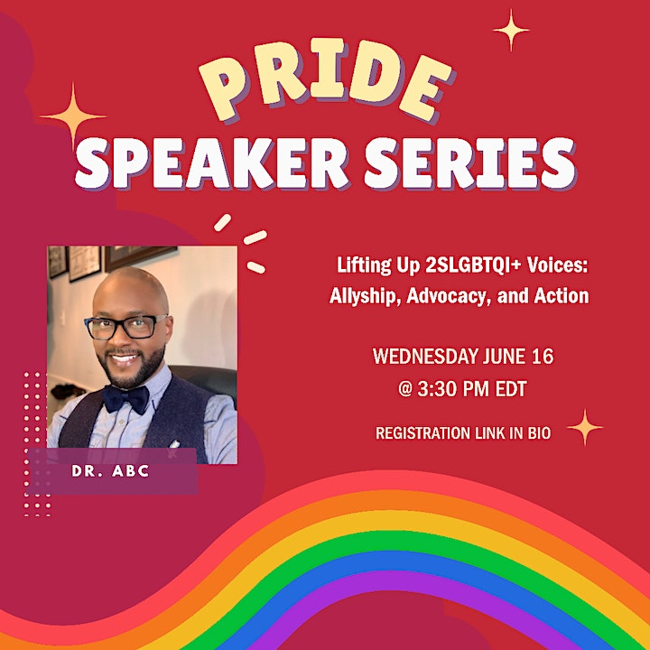 Pride Speaker Series: Allyship, Advocacy, and Action with Dr. ABC image