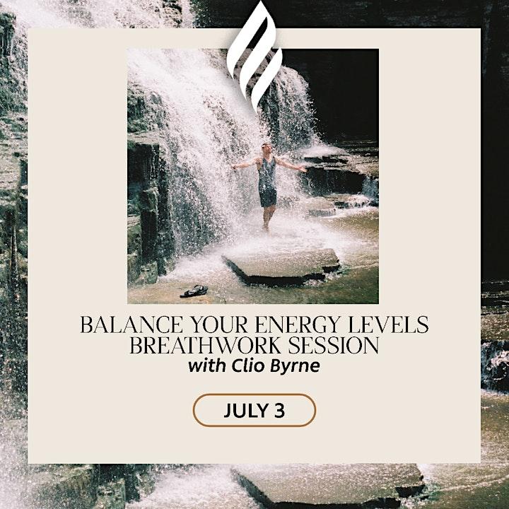 Balance your energy levels FREE breathwork session image