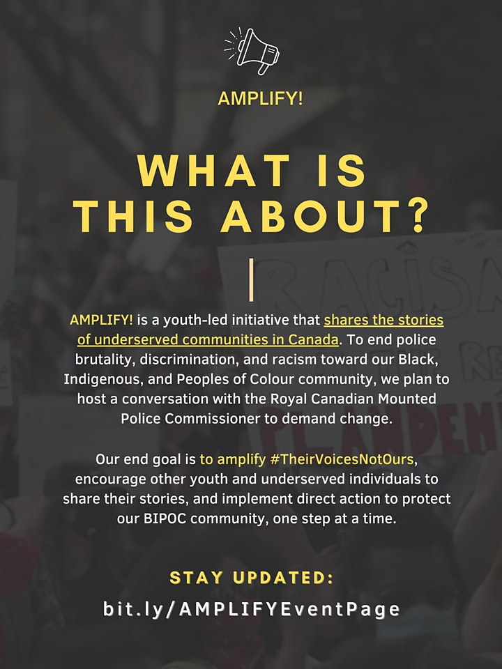 Perspective Sharing Session - AMPLIFY #TheirVoicesNotOurs image