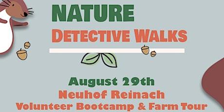 August Nature Detective Walk; Family Nature Walk Neuhof Reinach tickets