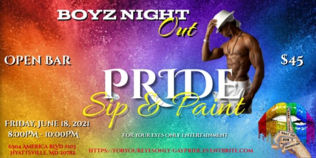 """""""Gay Pride"""" Sip ~N~ Paint with Exotic Male Models tickets"""