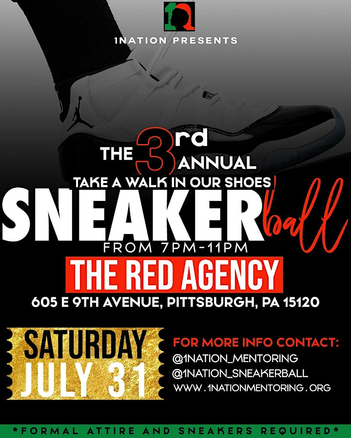 """3rd Annual 1Nation """"Take A Walk In Our Shoes"""" Sneaker Ball image"""