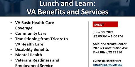 USO Transitions Lunch and Learn: VA Benefits and Services boletos