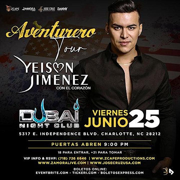 "YEISON JIMÉNEZ ""AVENTURERO TOUR"" CHARLOTTE, NC image"
