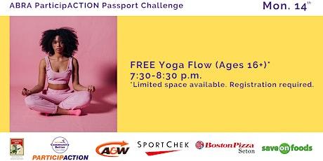 ABRA ParticipACTION Passport Challenge FREE Yoga Flow (Ages 16+) tickets